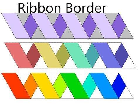 free quilt pattern ribbon border borders quilt patterns Unique Ribbon Border Quilt Pattern Inspirations