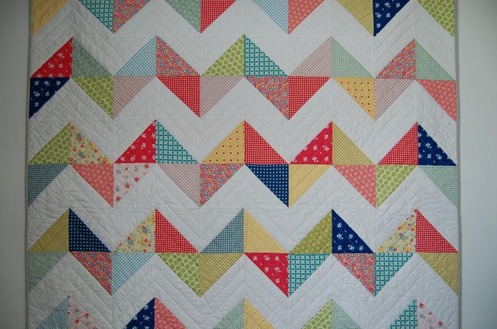 free quilt pattern sunny chevron quilt Cool Chevron Quilting Pattern