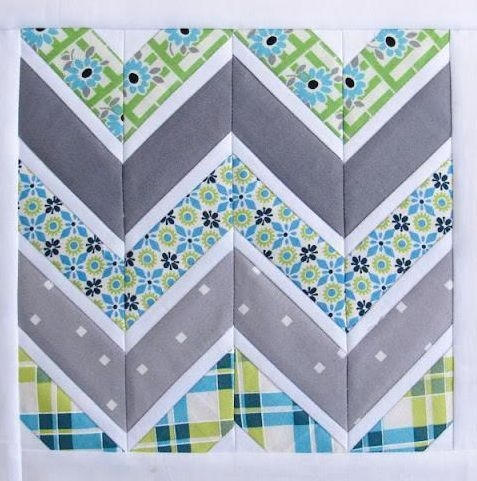 free quilting pattern friday chevron quilt pattern more Stylish Pattern For Chevron Quilt