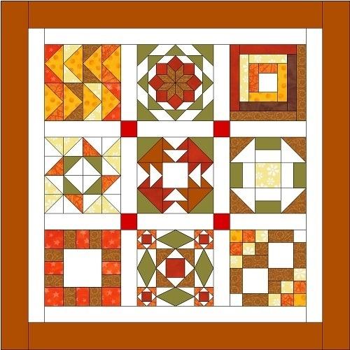 free sampler quilt workshop Cozy Sampler Quilt Block Patterns Gallery