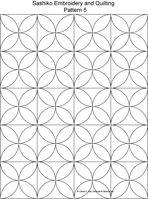 free sashiko repeating embroidery patterns Cozy Sashiko Quilting Patterns Gallery