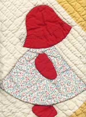 free sun bonnet sue applique patterns 100 percent freebies Cozy Bonnet Girl Quilt Pattern Inspirations