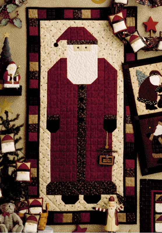 free tutorial santa door banner debbie mumm Interesting Debbie Mumm Quilt Patterns Inspirations