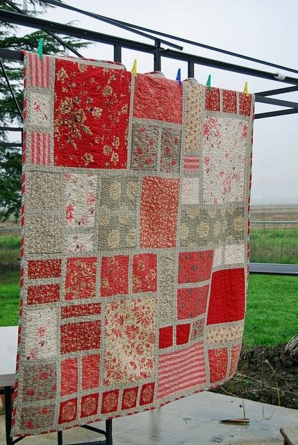french general quilt love the red quilts quilts quilt Modern French General Quilt Pattern Gallery