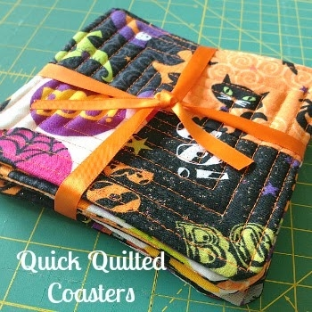 friday spotlight kellys quick quilted coaster tutorial Interesting Quilted Coaster Patterns