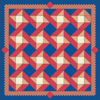 friendship quilt pattern howstuffworks Modern Geometric Quilting Patterns Gallery