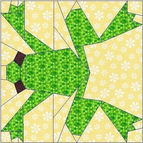 frog paper piecing quilt block pattern silhouette paper Modern Frog Quilt Block Pattern Gallery