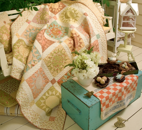 front porch blooms from fig tree quilts fresh vintage Cozy Fig Tree Quilts Fresh Vintage Sewing