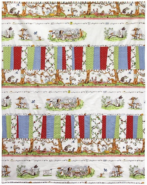 garden party quilt kit featuring fabrics anita jeram for clothworks Interesting Garden Party Quilt Pattern