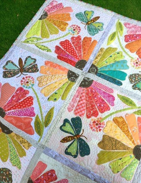 garden party quilt patterns applique quilts quilts Interesting Garden Party Quilt Pattern