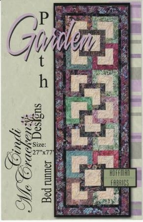 garden path runner quilt pattern from cindi mccracken designs Elegant Garden Path Quilt Pattern Gallery