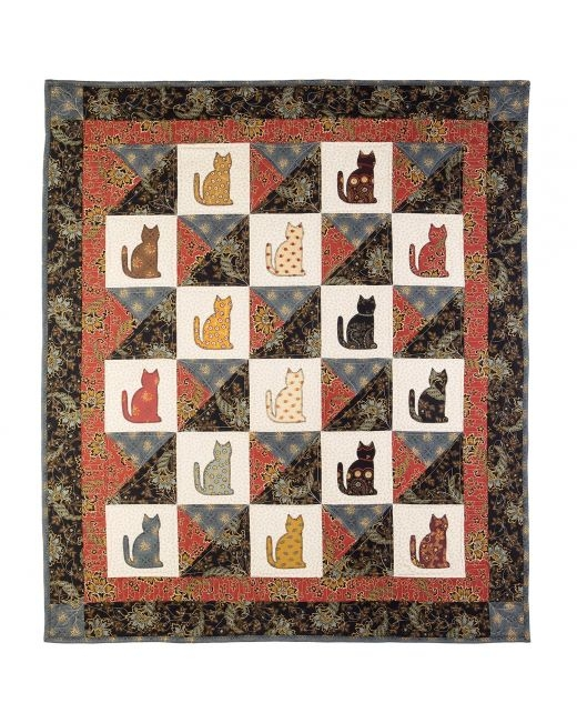 go qube 12 lauras kitty quilt pattern accuquilt Elegant Accuquilt Quilt Patterns Gallery
