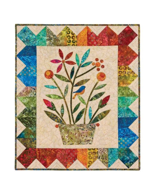 go rainbow bouquet wall hanging pattern edyta sitar Stylish Wall Hanging Quilt Patterns Inspirations