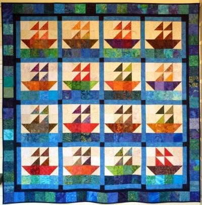 gourmet quilter big block big quilt sailing using 5 amazon Cozy 5 Inch Square Quilt Patterns Gallery