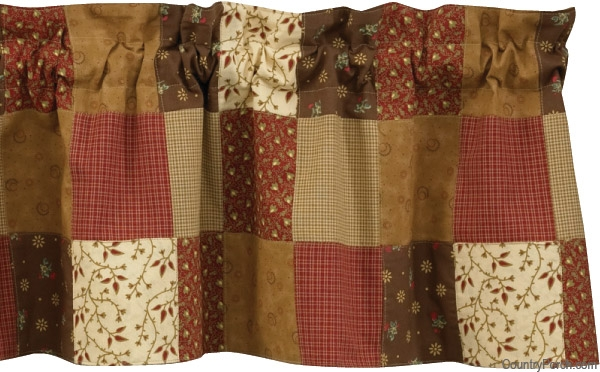 grandmas quilt lined patchwork curtain valance Stylish Quilted Curtain Patterns