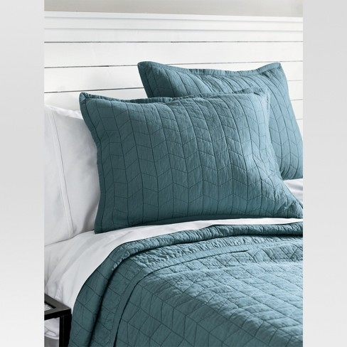 gray quilted pillow shams back of pillow sham quilt repair Stylish Threshold Vintage Washed Quilt Inspirations