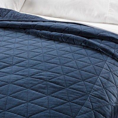 gray vintage wash velvet quilt fullqueen threshold Stylish Threshold Vintage Washed Quilt Inspirations