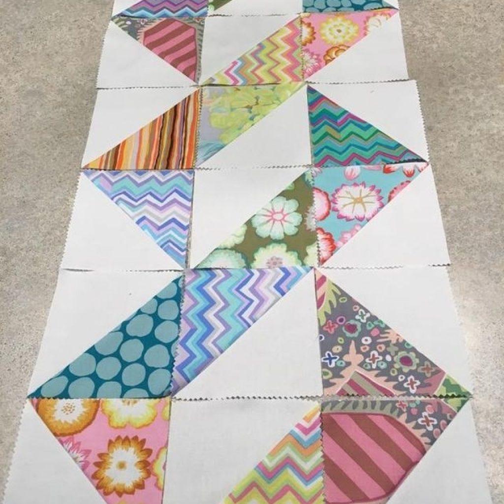 great design for half square triangles theme or favorite Cozy Half Square Triangle Quilt Patterns