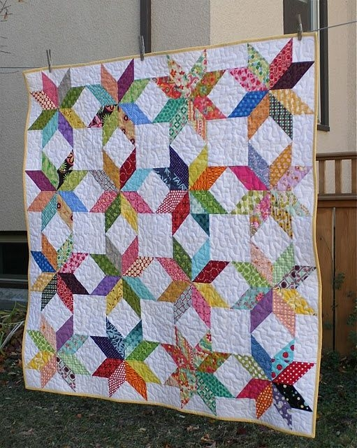 great quilt idea for fabric scraps quilts and quilting Cool Half Square Triangle Quilt