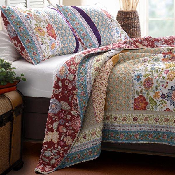 greenland home fashions geneva patchwork quilt set Interesting Vintage Quilt Sets Inspirations