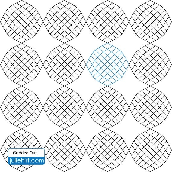 gridded out longarm quilting digital pattern for edge to edge and pantograph handiquilter gammill statler stitcher long arm machine Stylish Statler Stitcher Quilting Patterns Inspirations
