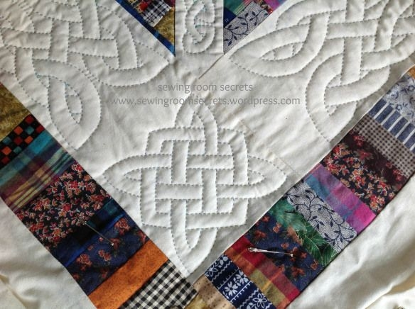 hand quilting a celtic knot on a pieced quilt any celtic Elegant Quilting By Hand Patterns Gallery