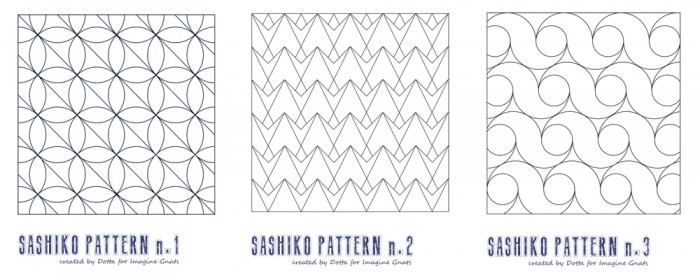 hand stitching sashiko cheat sheet imagine gnats Cozy Sashiko Quilting Patterns Gallery