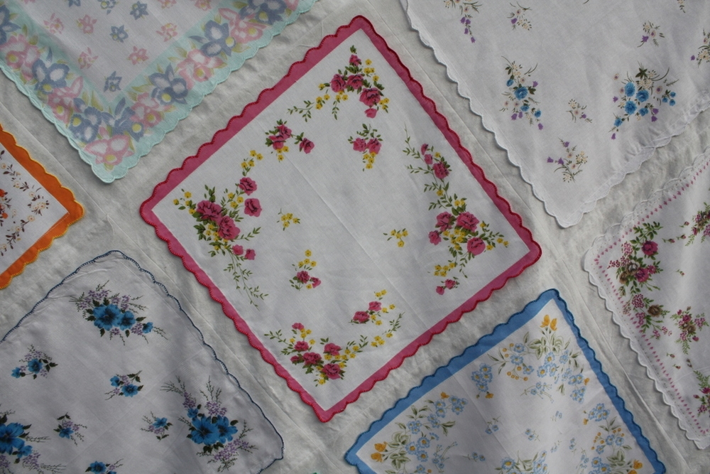 handkerchiefs vintage and new jane haworth Unique Vintage Hankie Quilt