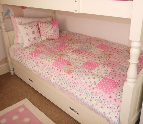 handmade patchwork quilt single bed size cath kidston fabric Interesting Single Bed Patchwork Quilt Patterns Gallery