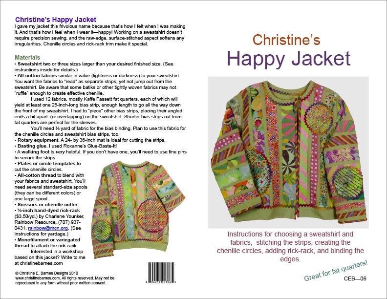 happy jacket pattern basic instructions sewing jacket Stylish Quilted Sweatshirt Pattern Inspirations