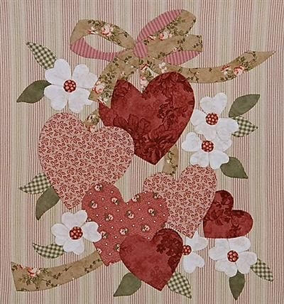 hearts for valentine designed for quilting applique but Cool Vintage Valentine Quilt Kit Gallery