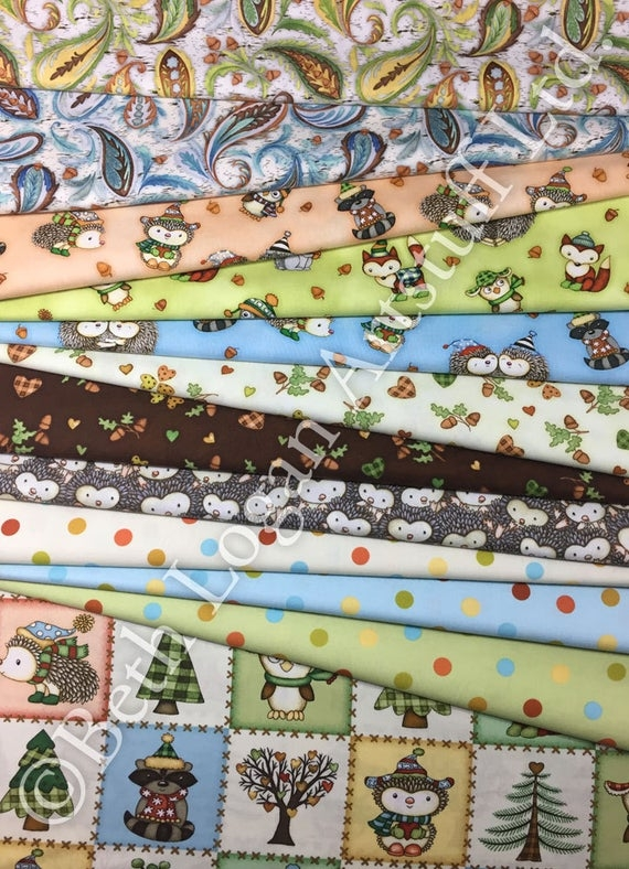 hedgehugs coordinates cotton quilting fabric the yard Quilting Fabric By The Yard