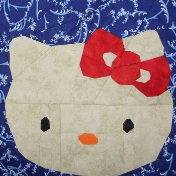 hello kitty paper piecing pattern quilt from Modern Hello Kitty Quilt Block Pattern Gallery