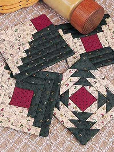 here is an easy to quilt coaster set that will add warmth to Interesting Quilted Coaster Patterns