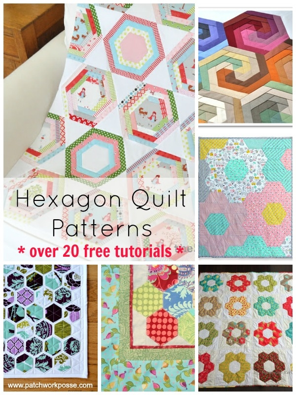 hexagon quilt pattern 20 designs and ideasto sew your next Patterns For Patchwork Quilts Gallery