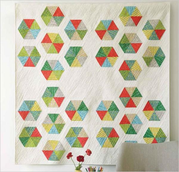 hexagon star quilt pattern download Unique Hexagon Quilting Patterns