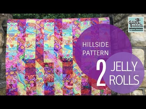hillside quilt pattern video tutorial uses 2 jelly rolls Elegant Youtube Jelly Roll Quilt Patterns Inspirations
