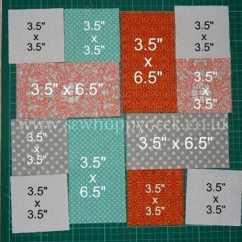 hmm good scrap quilt project use up random fabrics and Interesting Simple Block Quilt Patterns