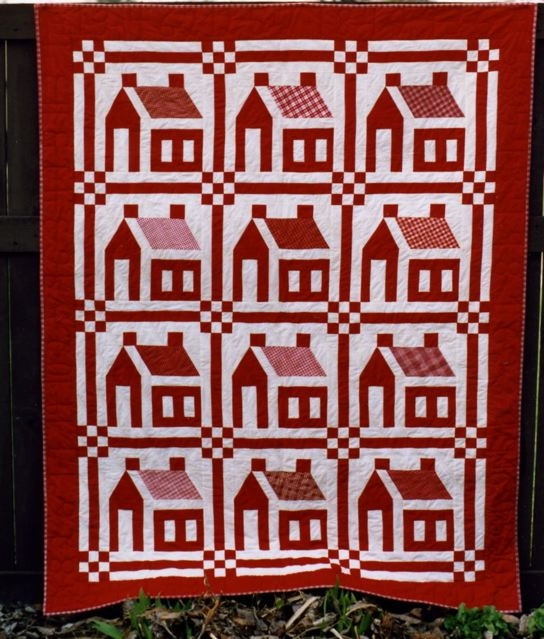 housing projects part 2 a free block patternand more Interesting Schoolhouse Quilt Pattern Inspirations