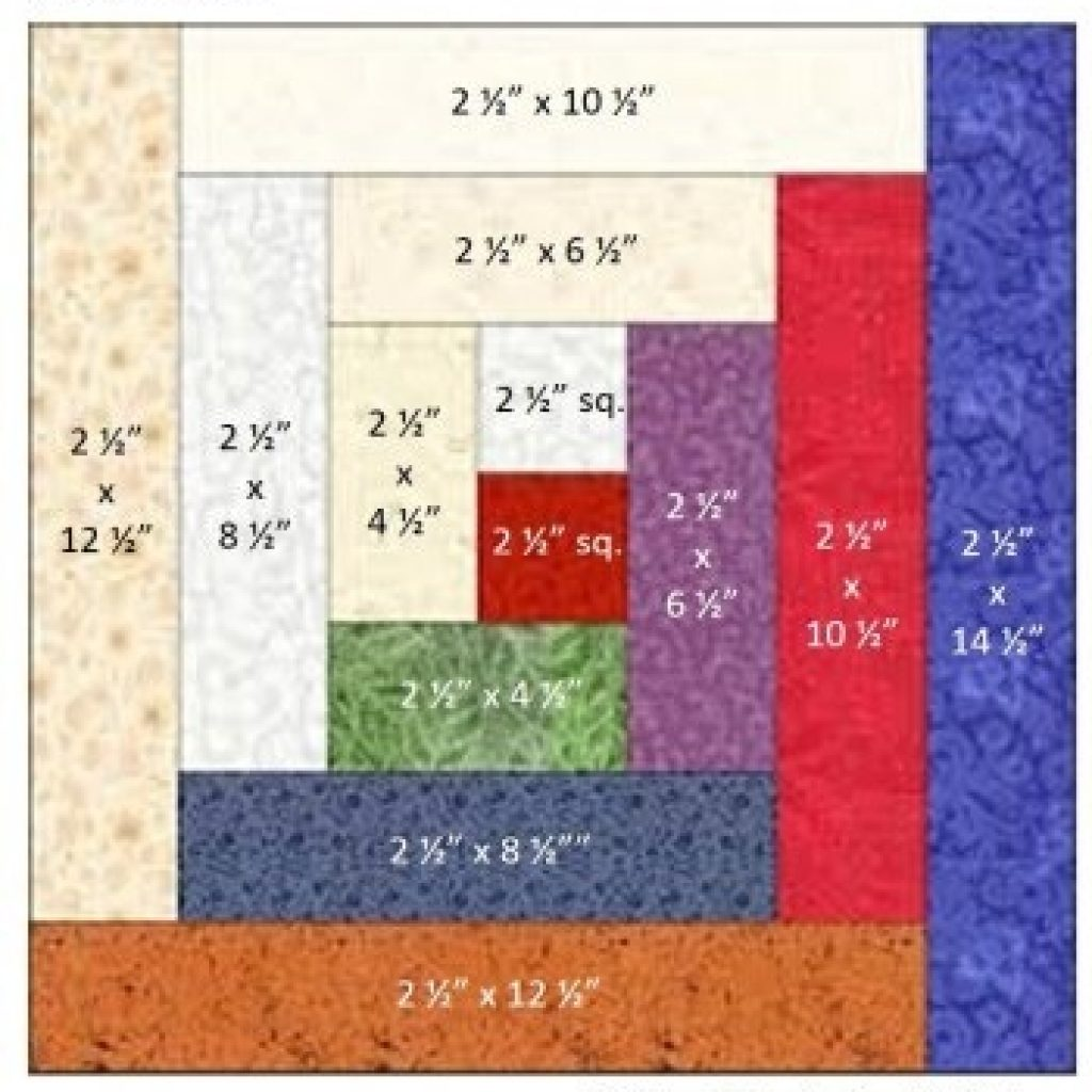 how to construct a log cabin quilt block Unique Log Cabin Square Quilt Inspirations