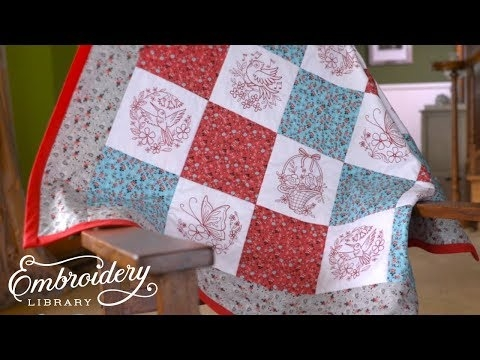 how to embroider and sew a lap quilt youtube Quilt Sew Easy Hoop Gallery