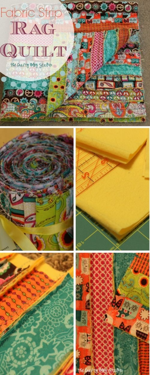 how to make a fabric strip rag quilt the crafty blog stalker Elegant String Pieced Rag Quilt Pattern