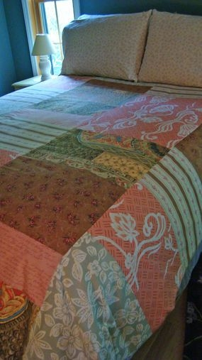 how to make a patchwork duvet cover recyclereuse Interesting Patchwork Quilt Duvet Cover Pattern Gallery