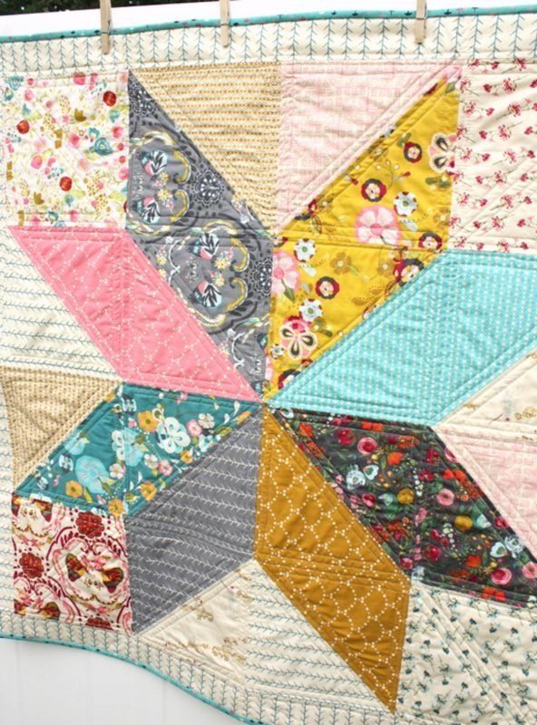 how to make a quilt weallsew Elegant 3 Fabric Quilt Idea Gallery