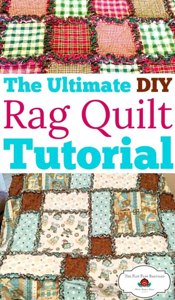 how to make a rag quilt a simple diy sewing project the Rag Quilt Patterns Instructions Inspirations