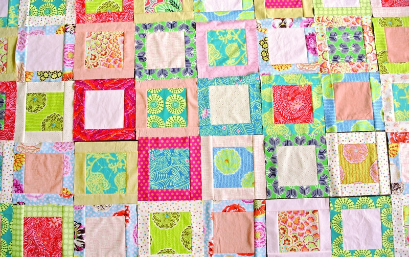 how to make a simple square in a square quilt block suzy Stylish Square In Square Quilt Pattern