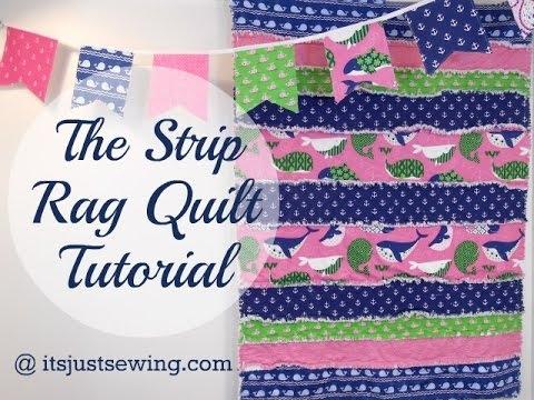 how to make a strip rag quilt Elegant String Pieced Rag Quilt Pattern