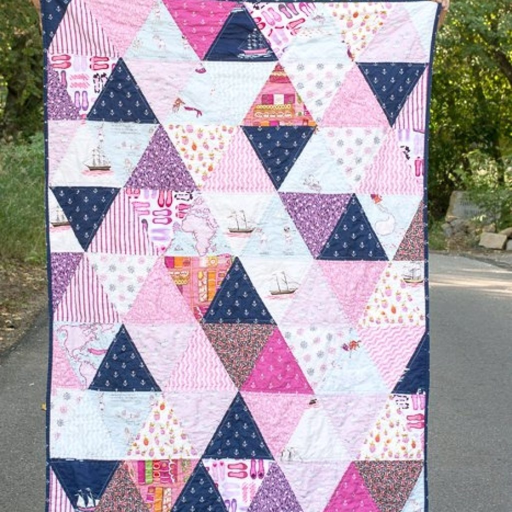 how to make a triangle quilt on the polka dot chair blog Elegant Quilt Patterns Triangles Gallery