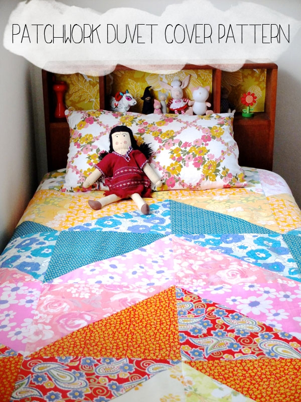 how to patchwork duvet cover my poppet makes Interesting Patchwork Quilt Duvet Cover Pattern Gallery