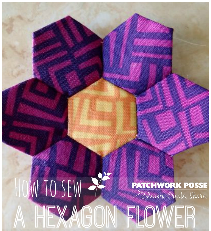 how to sew a hexagon flower tutorial Unique Hexagon Flower Quilt Pattern Inspirations